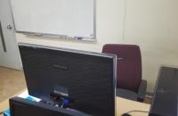 컴퓨터강사 책상입니다.